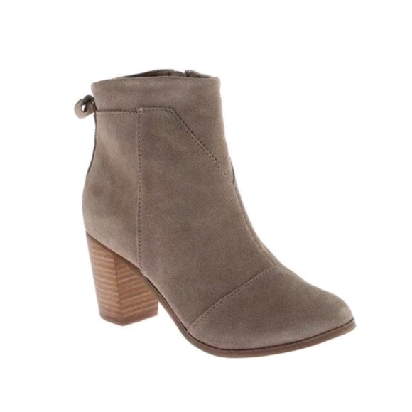 a35f1fb9f3f Toms Lunata suede ankle booties Taupe shoes boots